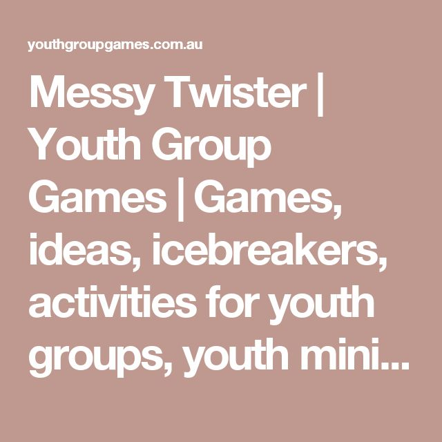 Messy Twister | Youth Group Games | Games, ideas, icebreakers, activities for youth groups, youth ministry and churches.