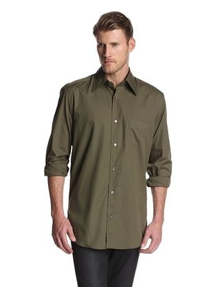 80% OFF Dolce & Gabbana Men's Solid Dress Shirt (Army Green)