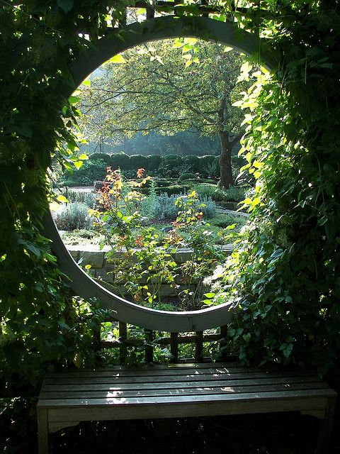 Moon gate. I want one of these going into a secret garden that hidden away from the crazy ass world we have today