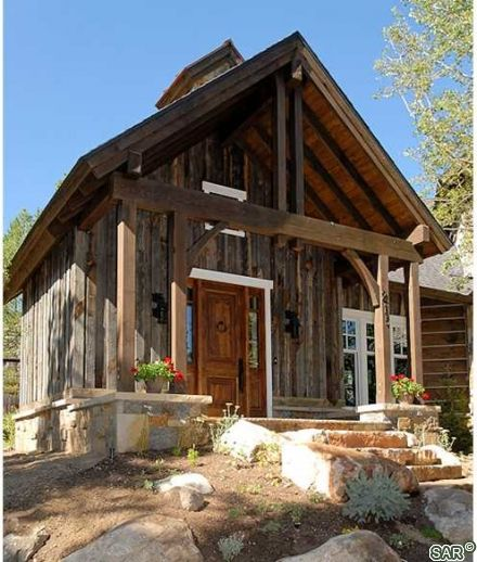 Mix Of Log And Timber Frame Home Tiny House Dream