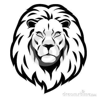 Simple lion head clipart - photo#29