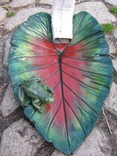 elephant ear leaf | Elephant Ear Leaf with Frog Downspout by CementLeavesbynancy