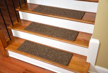 Chocolate Chip, Non-Skid, Tape Free, Pet Friendly, Carpet Stair Treads-Set of 15 contemporary-carpet-flooring