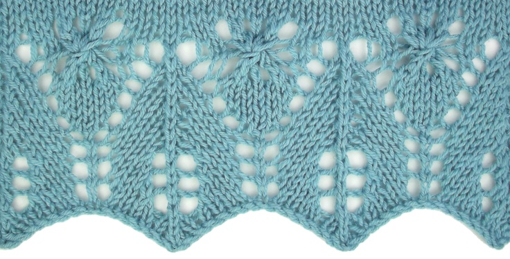 Estonian Little Daisies Edging, a perfect companion for a scarf knitted with the Little Dasies Lace pattern.  Find it in the Estonian Edgings category.
