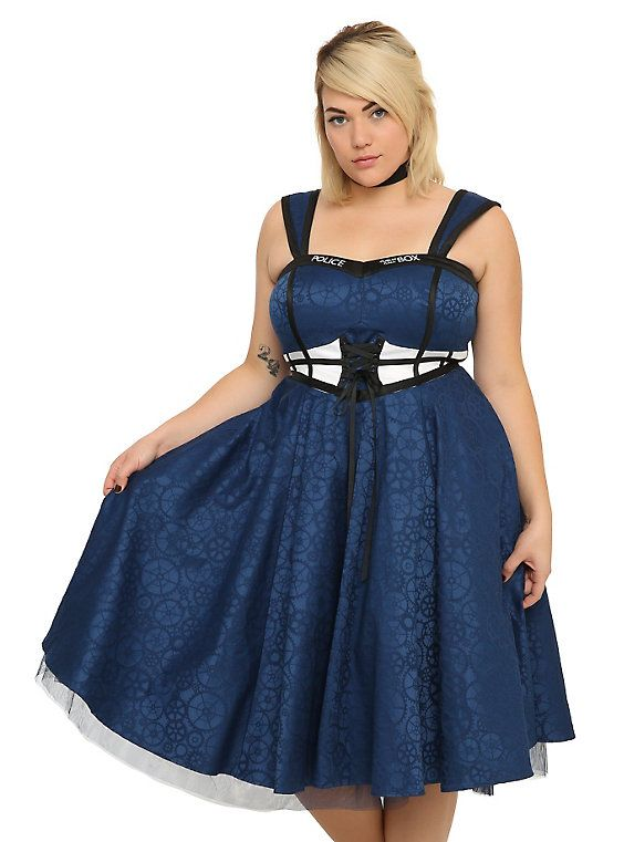 Doctor Who TARDIS Dress Plus Size 16, BLUE