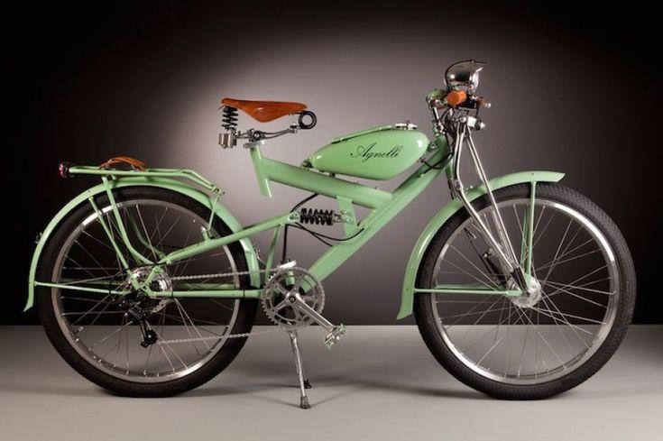 Exquisitas bicicletas eléctricas fabricadas con piezas de motos retro de los años 50