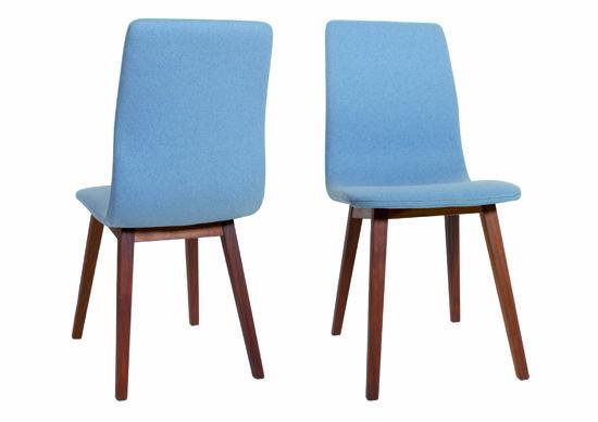 retro stuhl stoff himmelblau hier bestellen. Black Bedroom Furniture Sets. Home Design Ideas