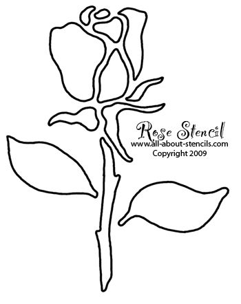 Rose Stencils from www.all-about-stencils.com