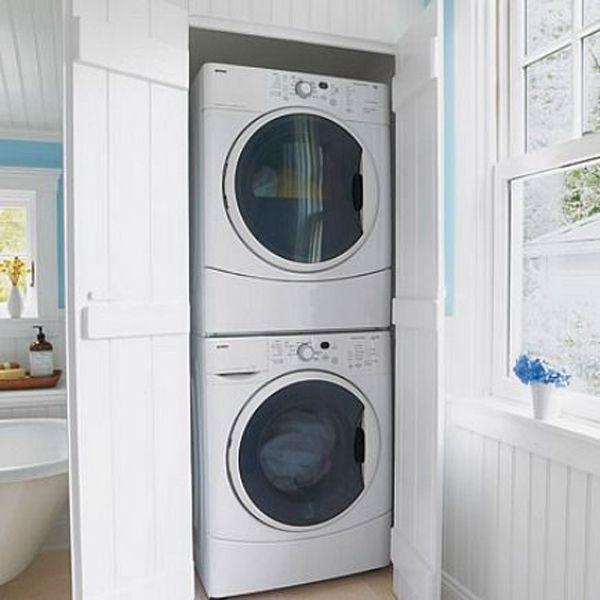 20 small laundry with bathroom combinations house design for Master closet laundry room combo