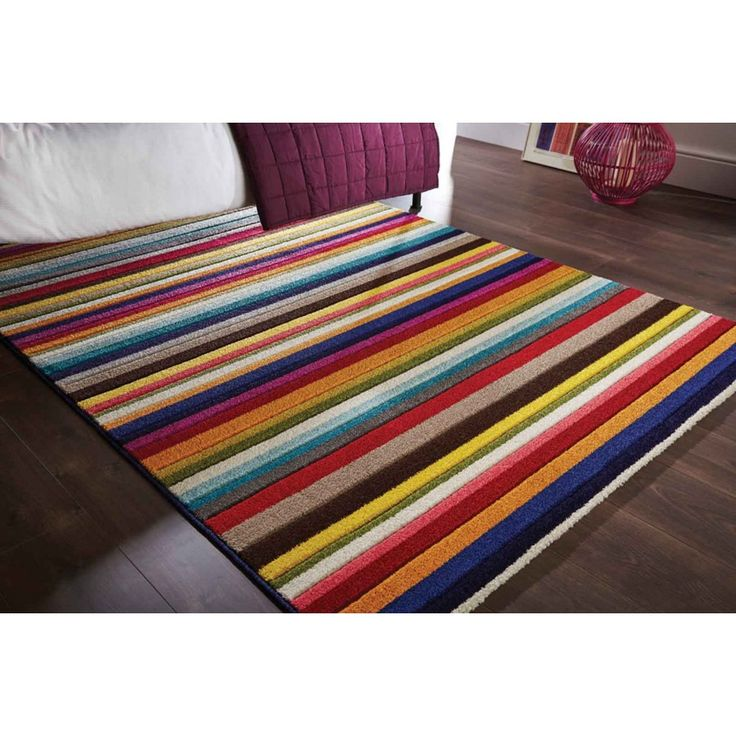 Spectrum Tango Multi Rug by Flair Rugs Spark up a bedroom or living room or your hallways with our striking SPECTRUM Tango Multi Rug by Flair Rugs. #handmaderugs #stripedrugs #multistripedrugs #modernrugs #funkystripedrugs