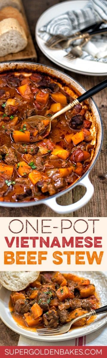 "Highly aromatic, one~pot Vietnamese Beef Stew. Mmm, this sounds like a ""very interesting, different from the regular"" stew!"