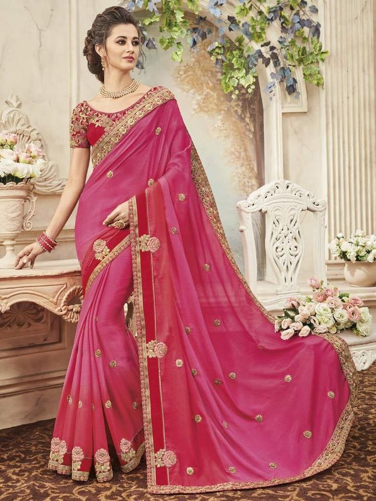Designer Bollywood sarees Blouse Indian Ethnic Saree Party Wear Wedding Sari  #Handmade #SareeBlouse