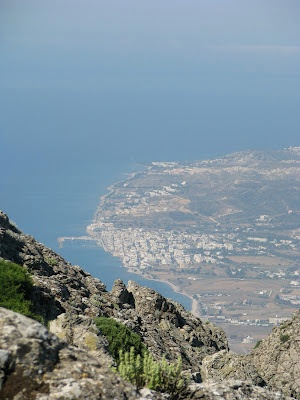 Views from the top of Mount Dikaios on the island of Kos in Greece: Kardamena  http://www.discoveringkos.com/