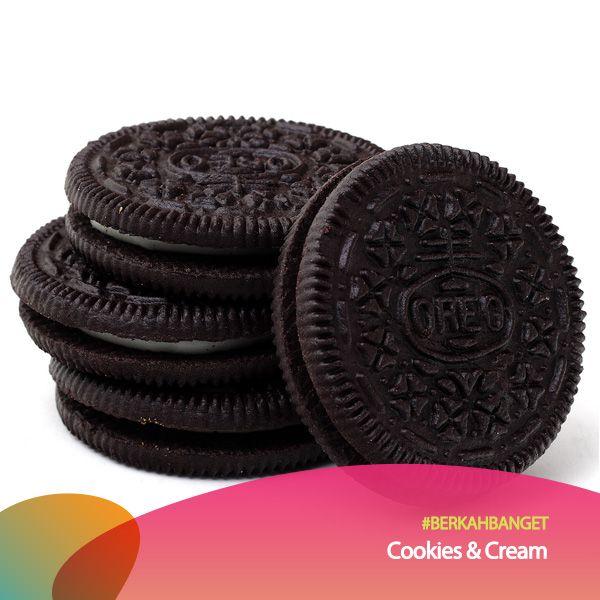 Topping Cookies and Cream. #BerkahBanget