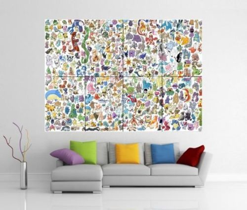 pokemon giant wall art picture print poster g18