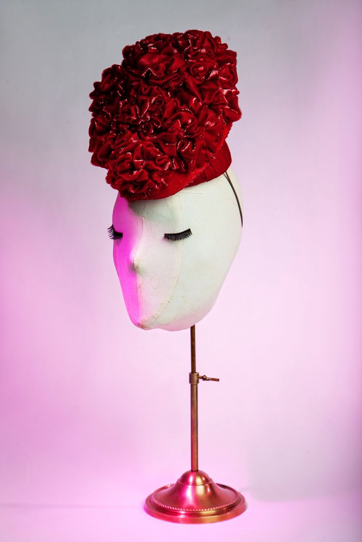"""""""Scarlett Rouge"""" Hat by Anya Caliendo. The beauty of French iridescent silk velvet in action."""