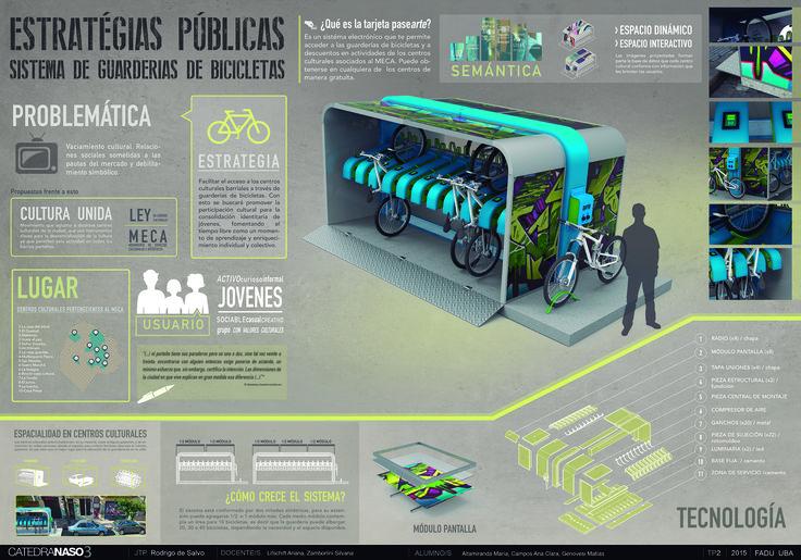 Diseño de guardería de bicicletas bajo la consigna de reforzar una conducta social / mobiliario urbano