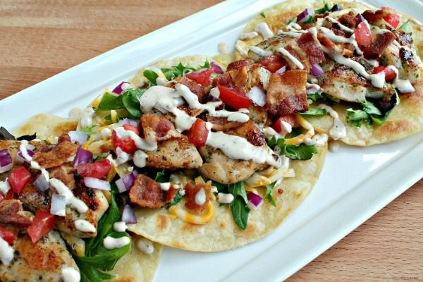 Chipotle Ranch Chicken Tacos -  thymeforcocktails