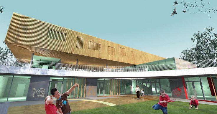 Pestszerintimre - Nursery School designed by 4D Architects