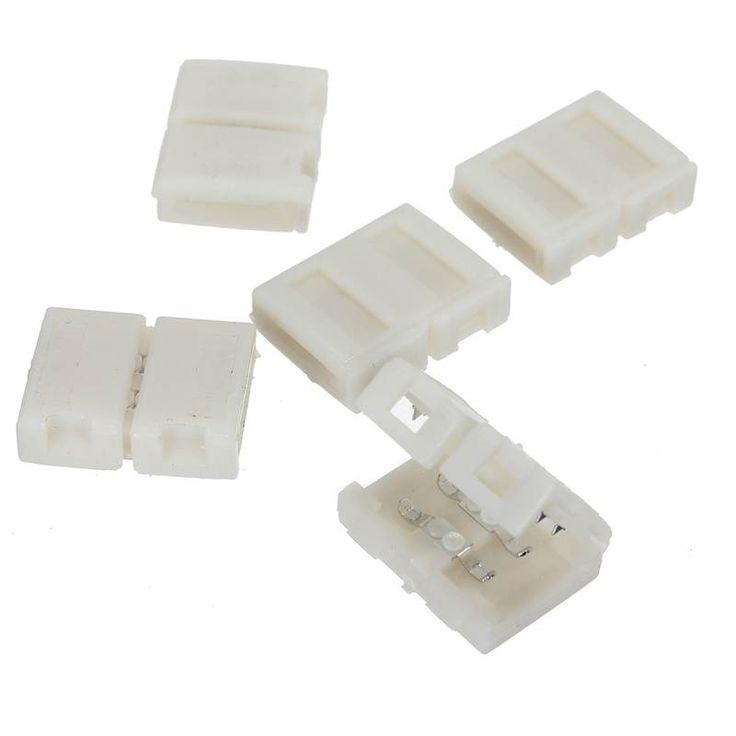 Beste Promotie 5 stks/partij 8mm 2PIN Connector Adapter Accessoires PCB Voor 3528 LED Strip Enkele Kleur Soldeerloze