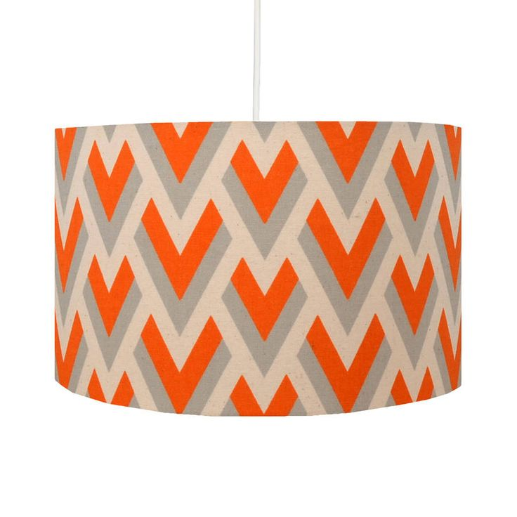 Orange Arrow Geometric Lampshade from notonthehighstreet.com