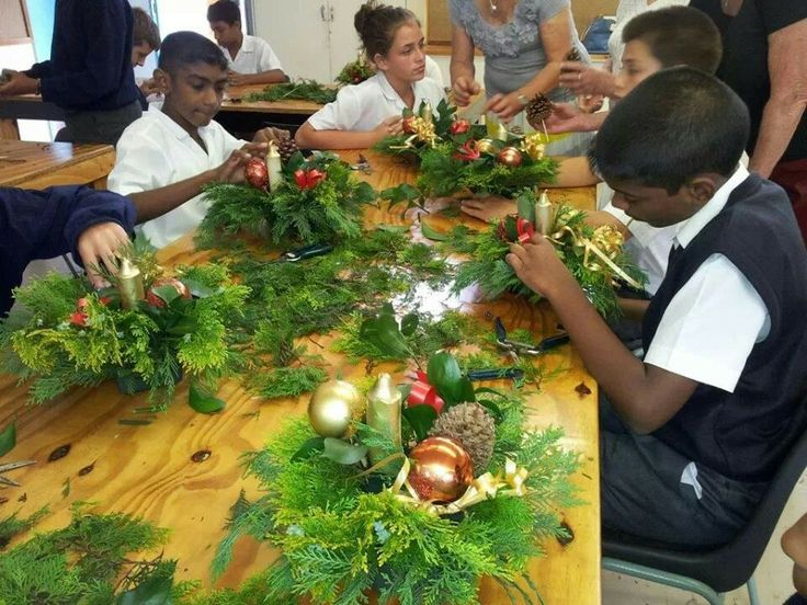 The Browns school last Floral Art lesson today!