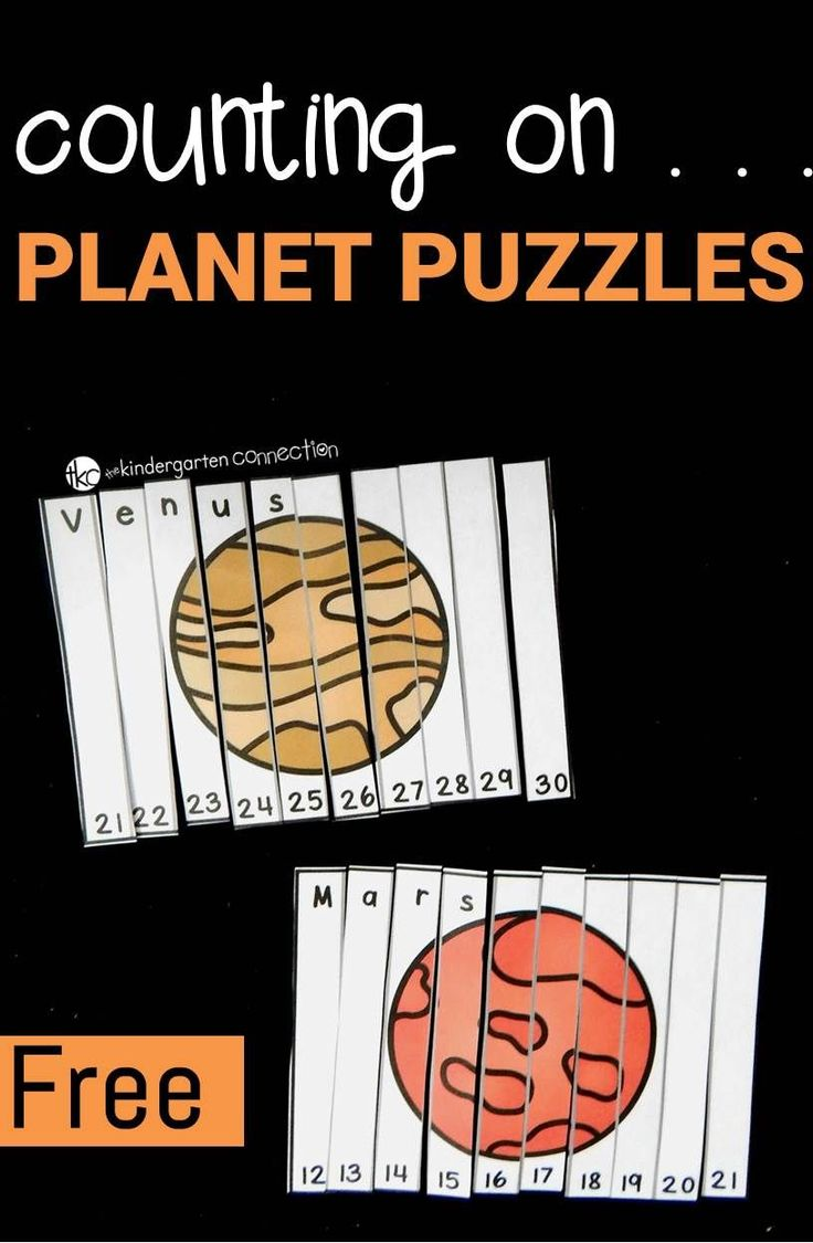 These counting on puzzles for kids are a perfect way to practice number sequencing while learning more about planets and outer space!