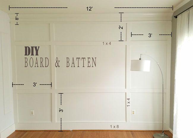 Diy Board And Batten Living Room Remodel Home