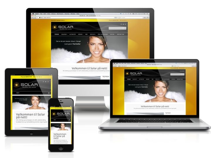 Responsive wordpress websites from HEADER AS,  Norway