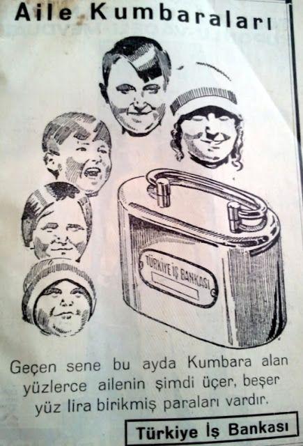 OĞUZ TOPOĞLU : türkiye iş bankası kumbarası 1936 senesi nostaljik...