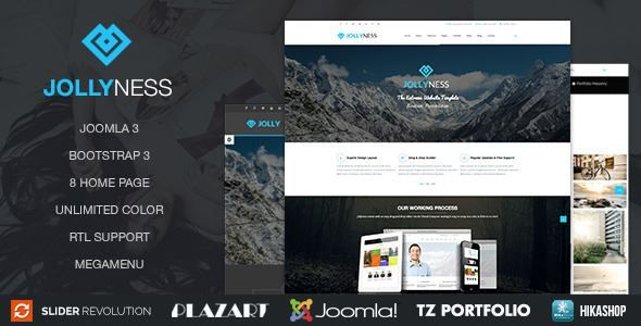ThemeForest - Jollyness – Business Joomla Template  Free Download