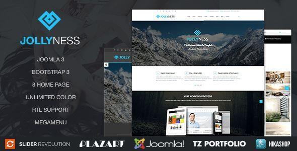 ThemeForest - Jollyness – Business Joomla Template  Free Download
