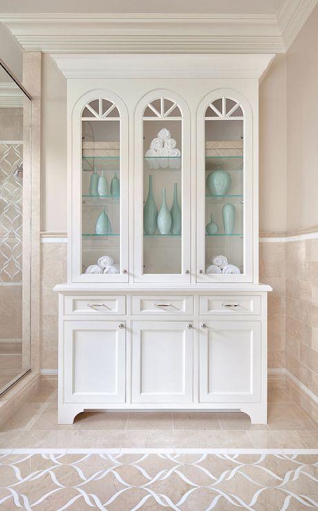 Crema Marfil Marble Contemporary Bathroom Benjamin
