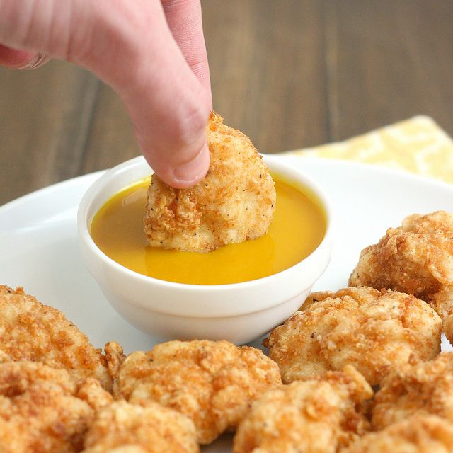 Homemade Chicken Nuggets with Honey-Mustard Sauce @Tracey Wilhelmsen (Tracey's Culinary Adventures): Dinner, Honey Mustard Sauce, Sauce Tracey, Tracey S Culinary, Recipe, Sauces, Homemade Chicken Nuggets