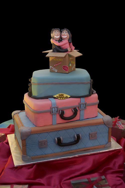 luggage cake - This is a wedding luggage cake of my special friends, Tophen and Janet. A 3-layer chocolate moist cake covered with fondant. Only at Cake Temptations by Raschell Joy Achanzar-Ramirez, Davao City Philippines.