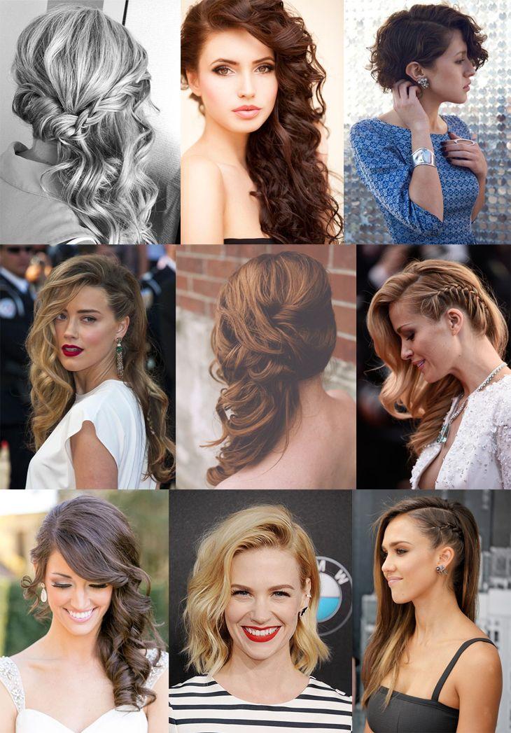 45 inspirações para arrasar na festa!: Penteados de lado soltos