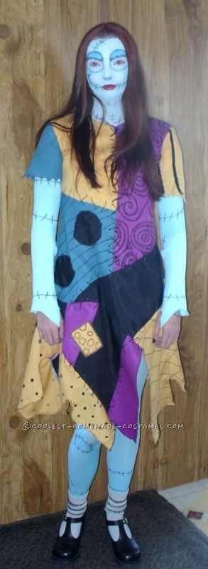 Coolest Homemade Sally from Nightmare Before Christmas Costume