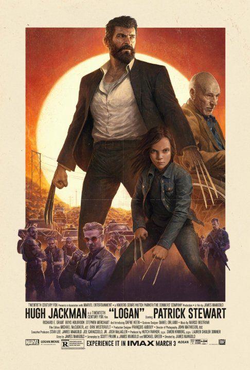 Patrick Stewart, Hugh Jackman, and Dafne Keen in Logan (2017)