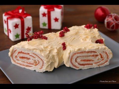 Tronchetto di Natale al salmone e philadelphia - YouTube