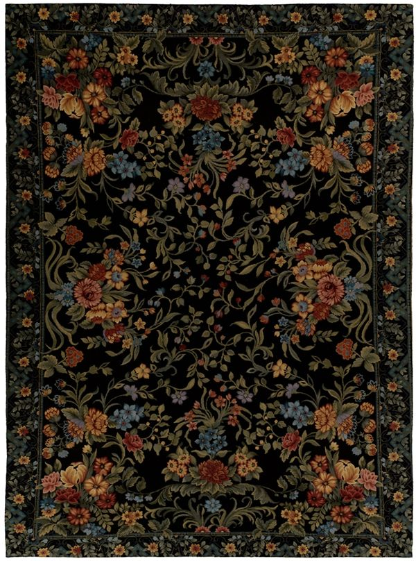 [Blog] Black Needlepoint Rugs Enliven Dolce U0026 Gabbanau0027s F/W 2012 Fashions