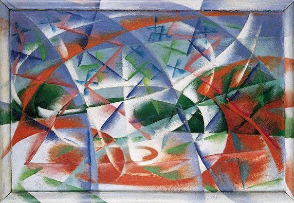 """Giacomo Balla, """"Velocidad abstracta + sonido"""" 1914"""