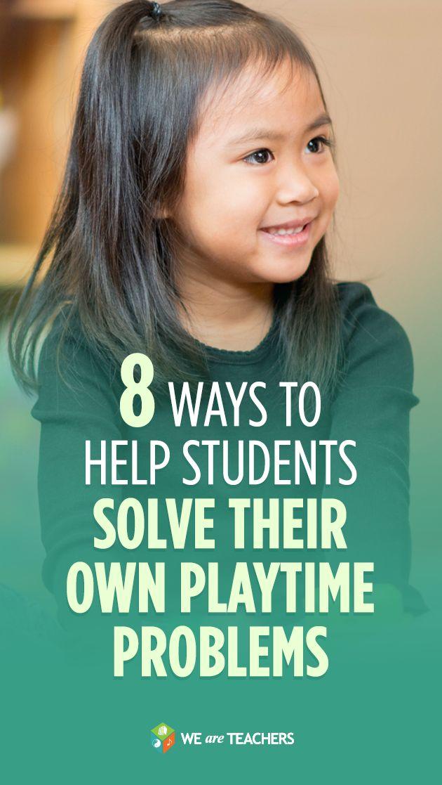 8 Ways to Help Students Solve Their Own Playtime Problems #classroommanagement #weareteachers