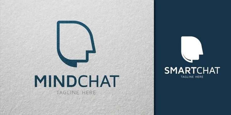 Mind Chat Logo Template, only 27$ + VAT