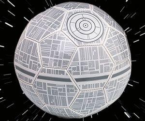 Death Star Soccer Ball - https://interwebs.store/death-star-soccer-ball/ #StarWars