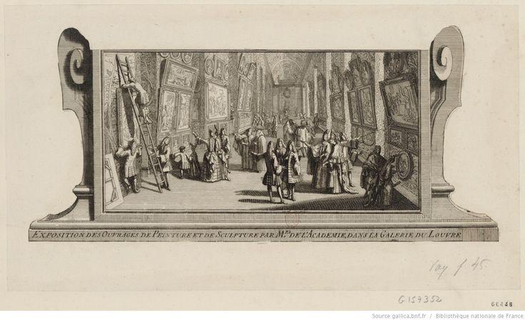 Exposition des ouvrages de peinture et de sculpture par M.rs de l'Académie dans la galerie du Louvre : [estampe]