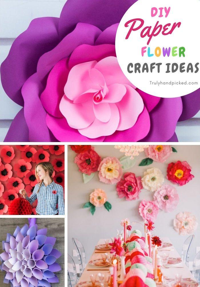 16 Diy Paper Flower Crafts Ideas For Home Decor