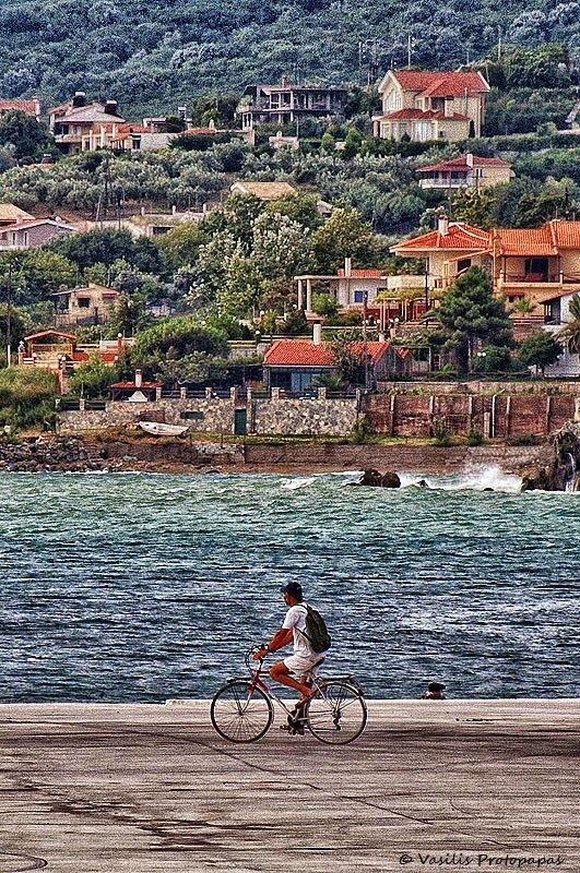 Cycling across Greece...  oh yeah.