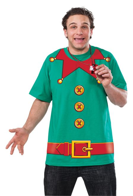 Christmas Elf T-Shirt - Becoming Santa's helper is easy with this fun Christmas time Elf shirt! Perfect for a night on the town or the office party!