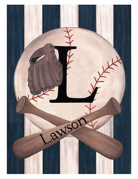 Vintage Baseball Personalized Wall Hanging