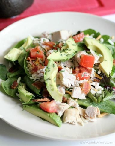 Healthy and delicious Turkey Avocado BLT Salad recipe that is WHOLE 30 and PALEO compliant.